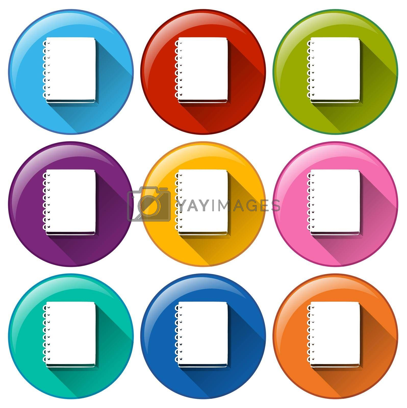 Royalty free image of Communication notebook icons by iimages