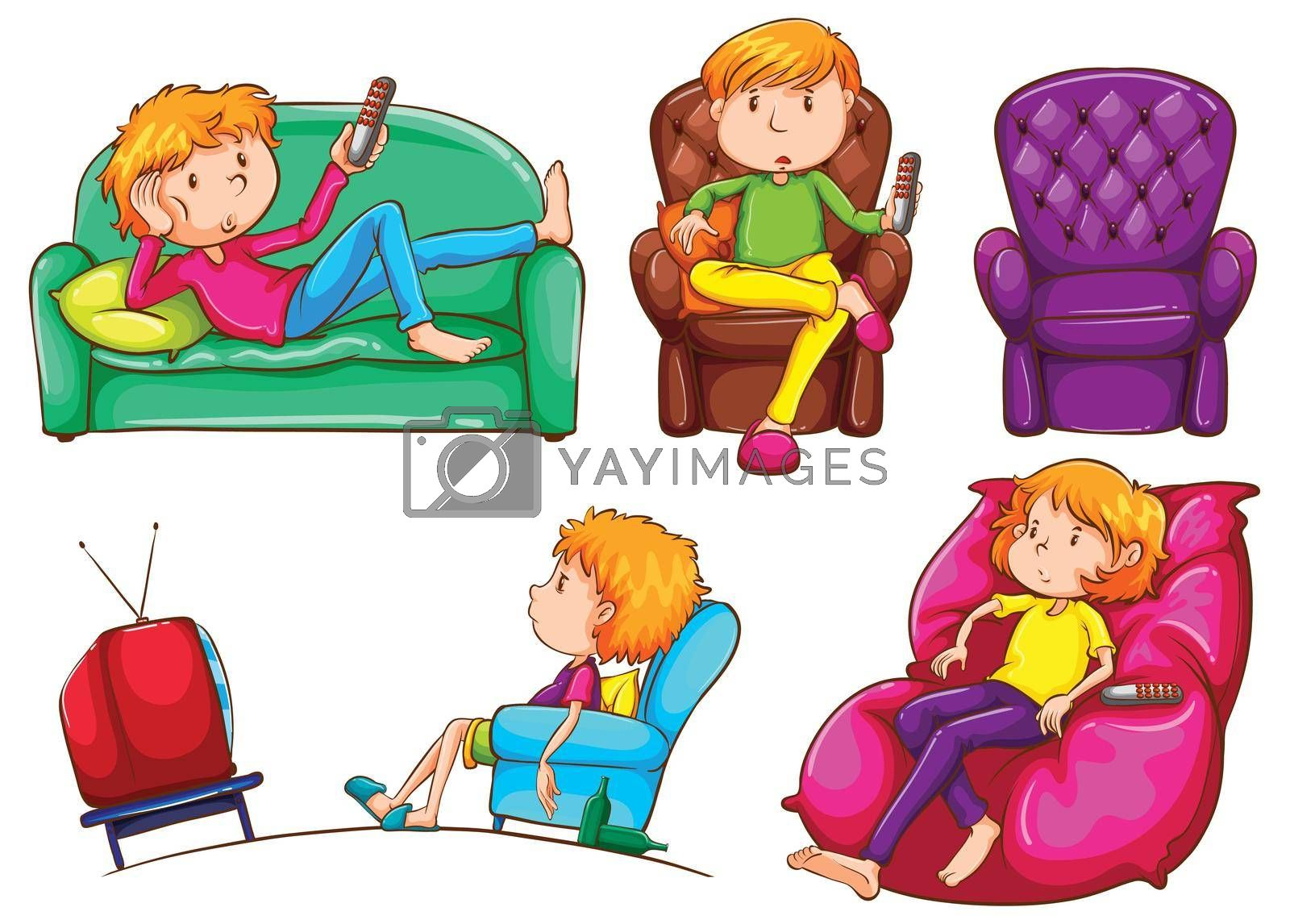 Royalty free image of Lazy people by iimages