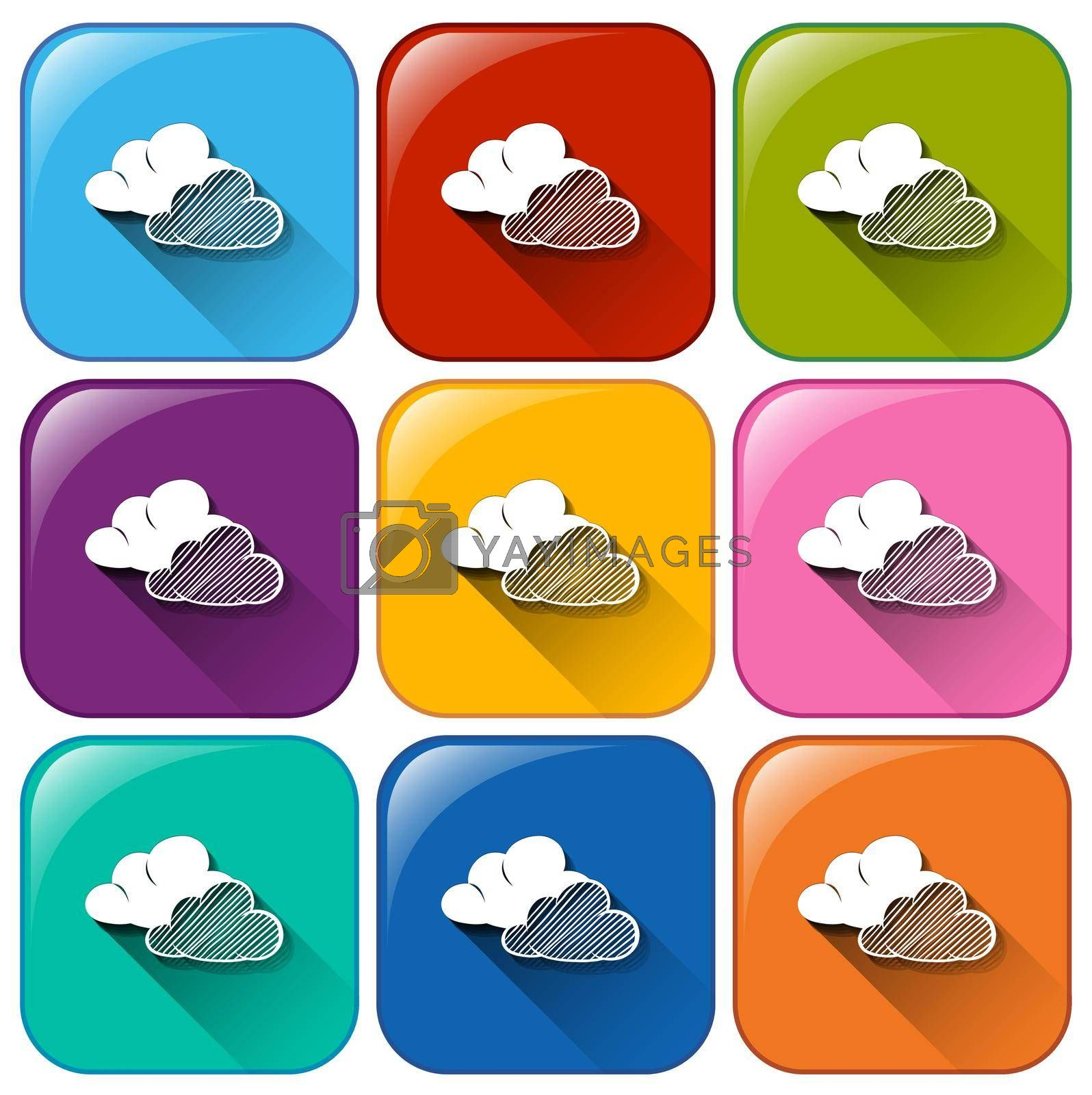 Royalty free image of Weather forecast buttons by iimages