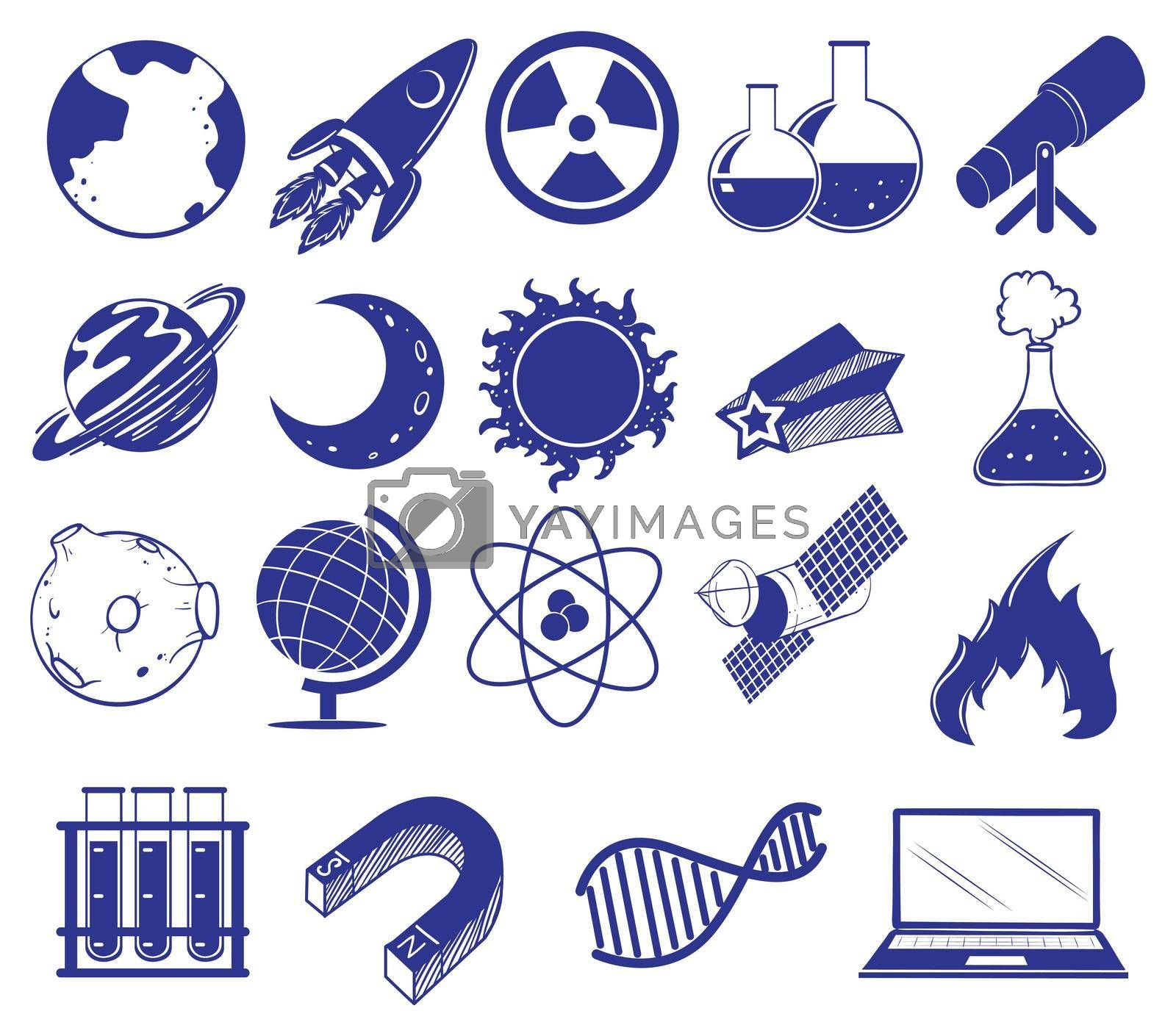 Royalty free image of All about science and technology by iimages
