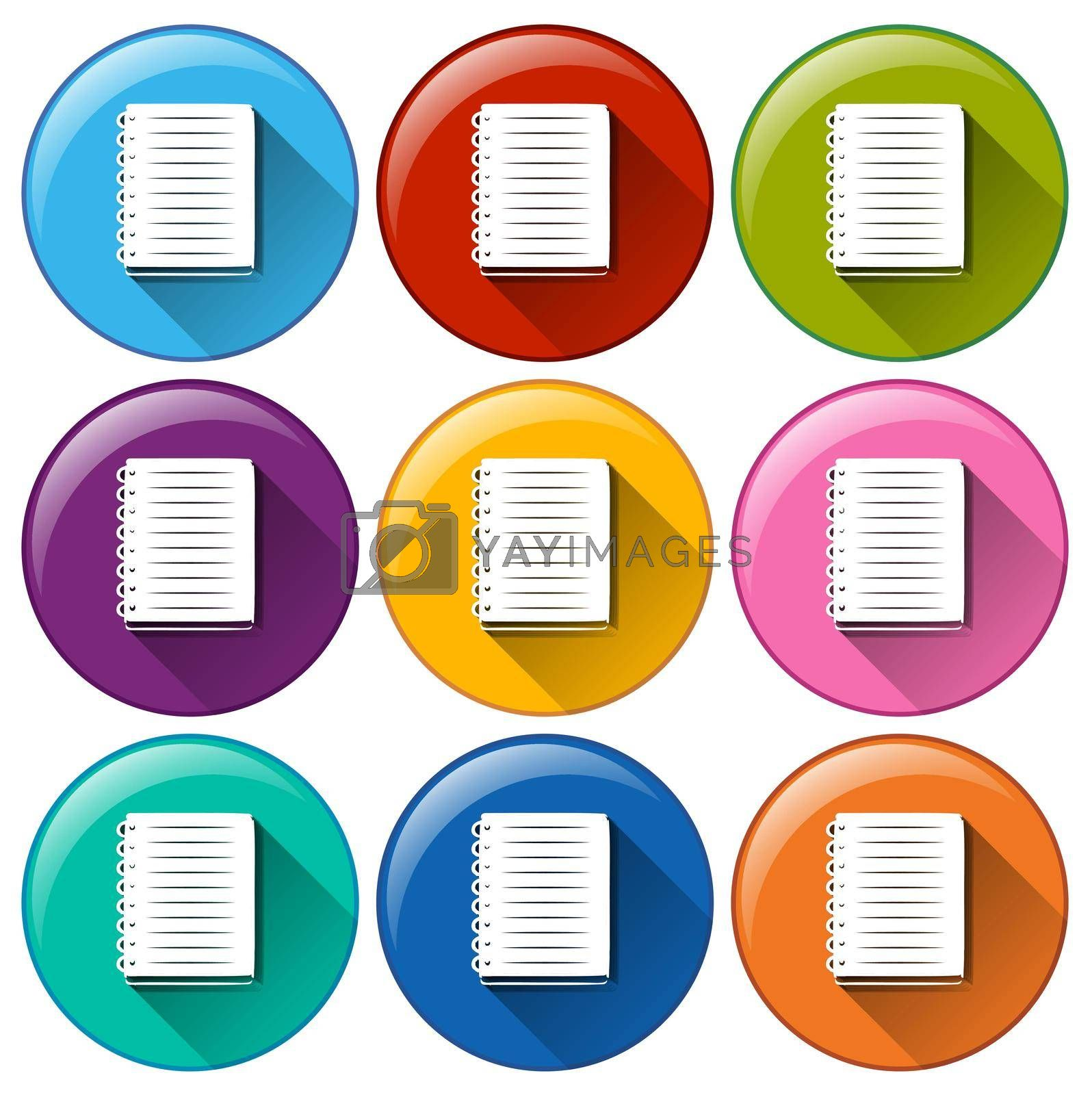 Royalty free image of Icons with communication notebook by iimages