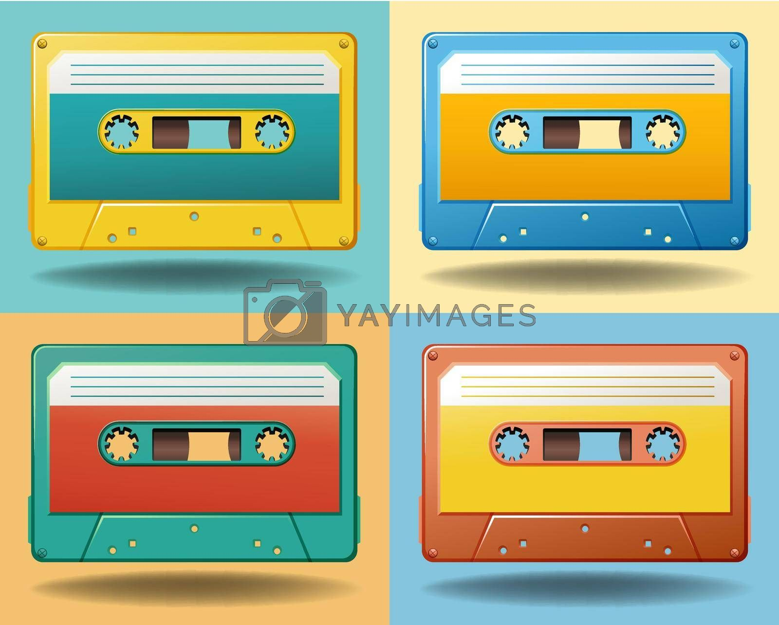 Royalty free image of Cassettes by iimages