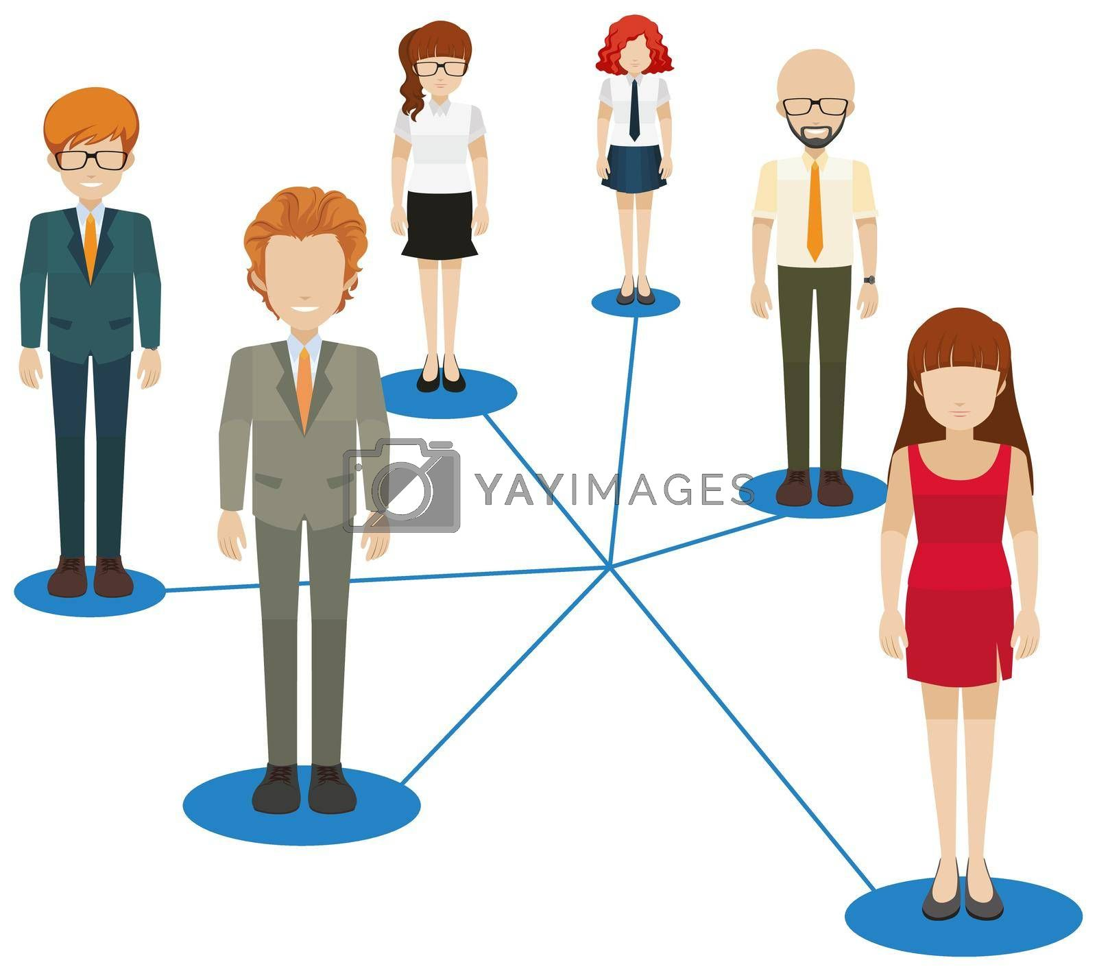 Royalty free image of Network of people by iimages