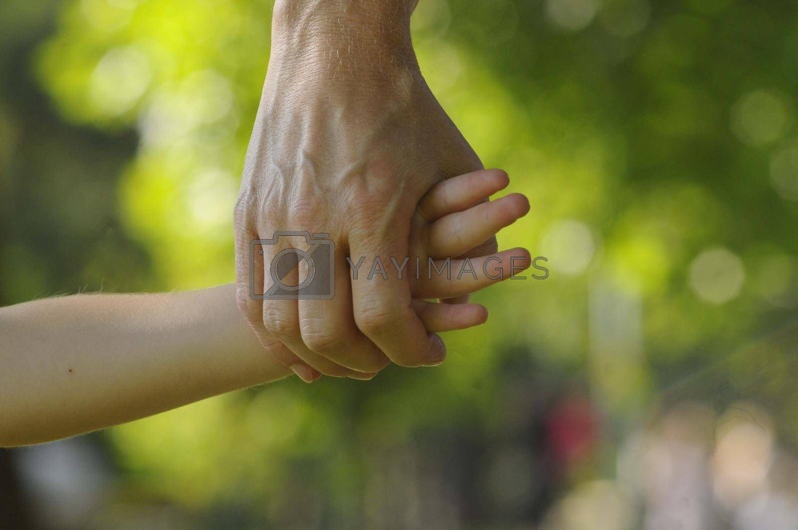 child and mother holding hands, sign of trust and intimacy