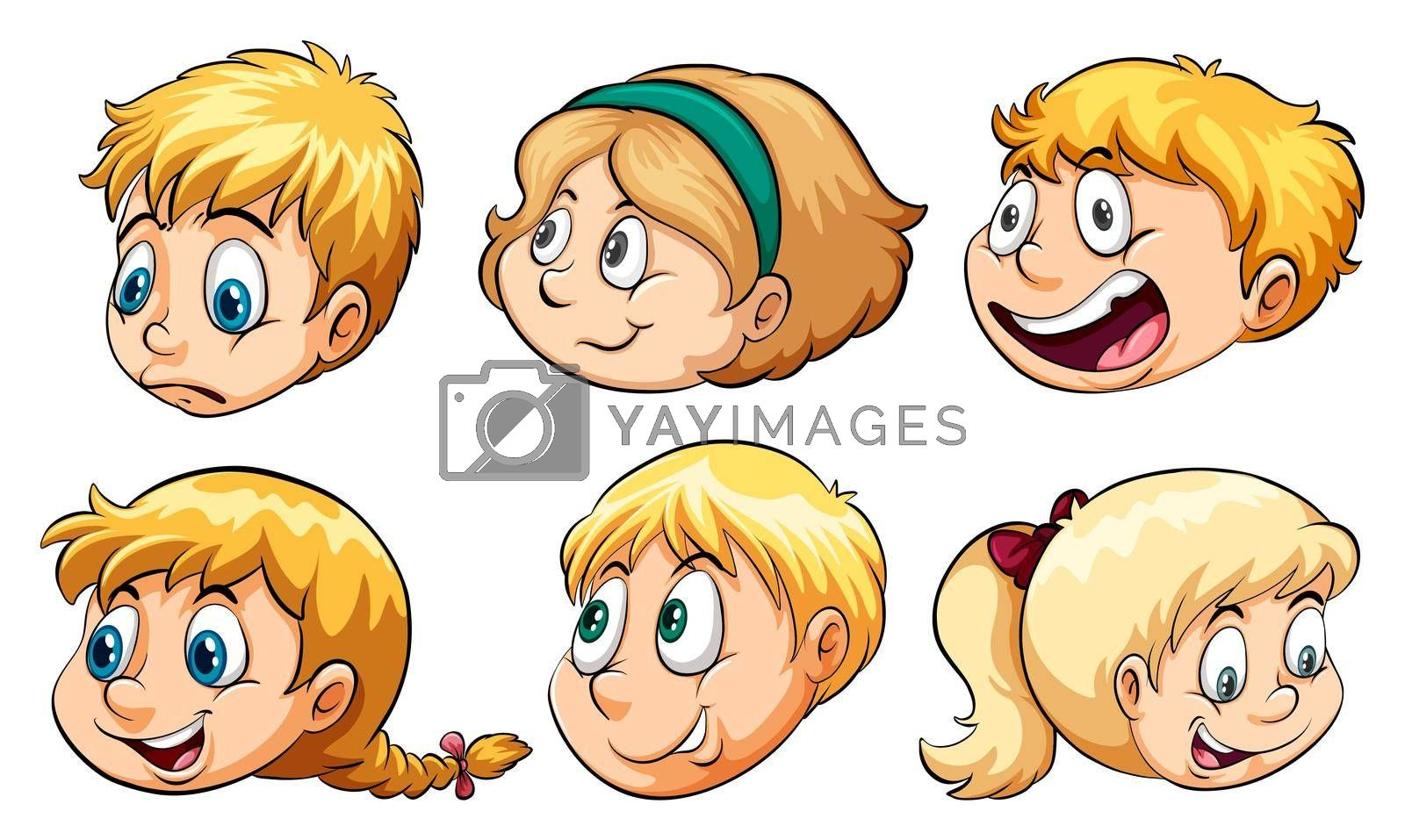 Royalty free image of Heads of people by iimages
