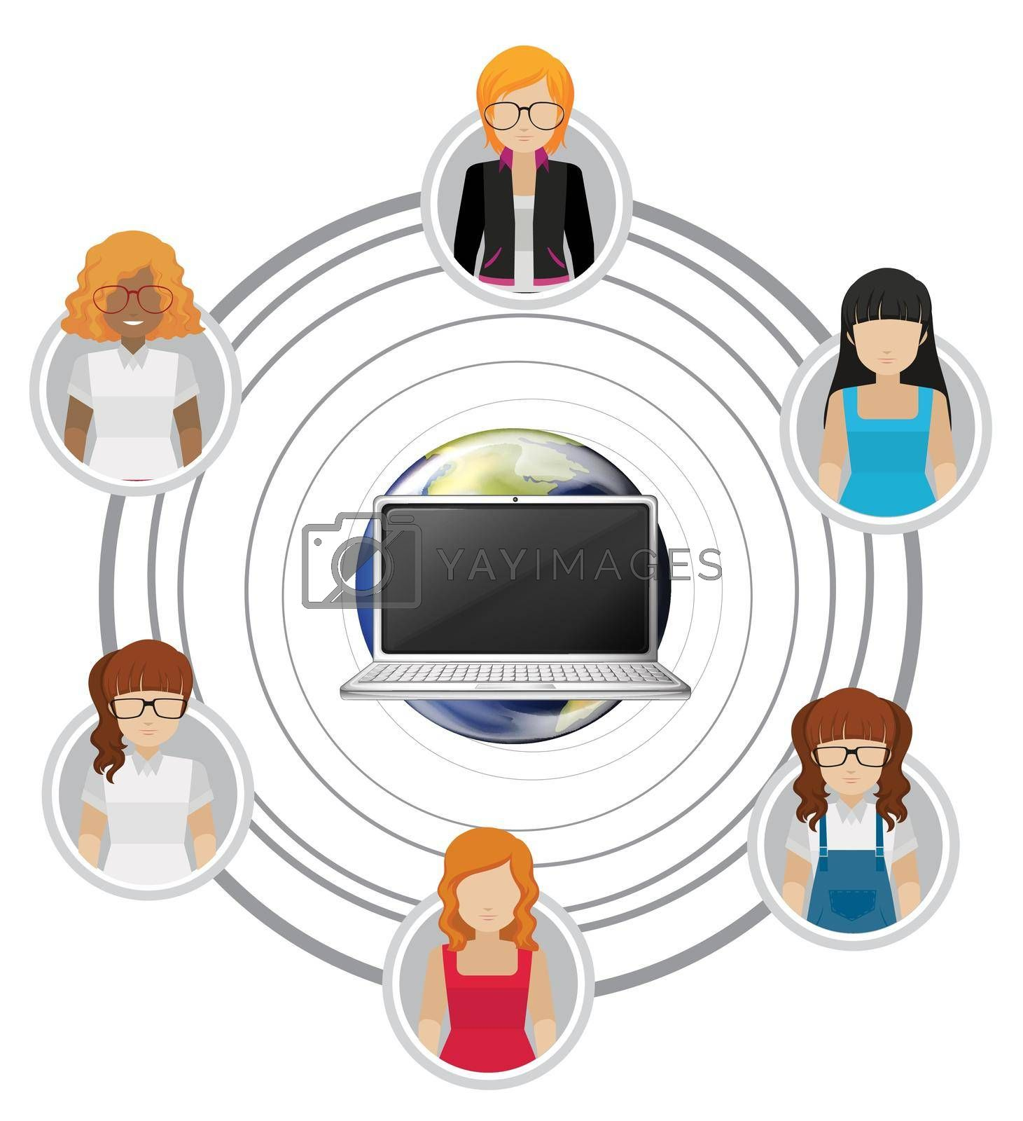 Royalty free image of People connected by technology by iimages