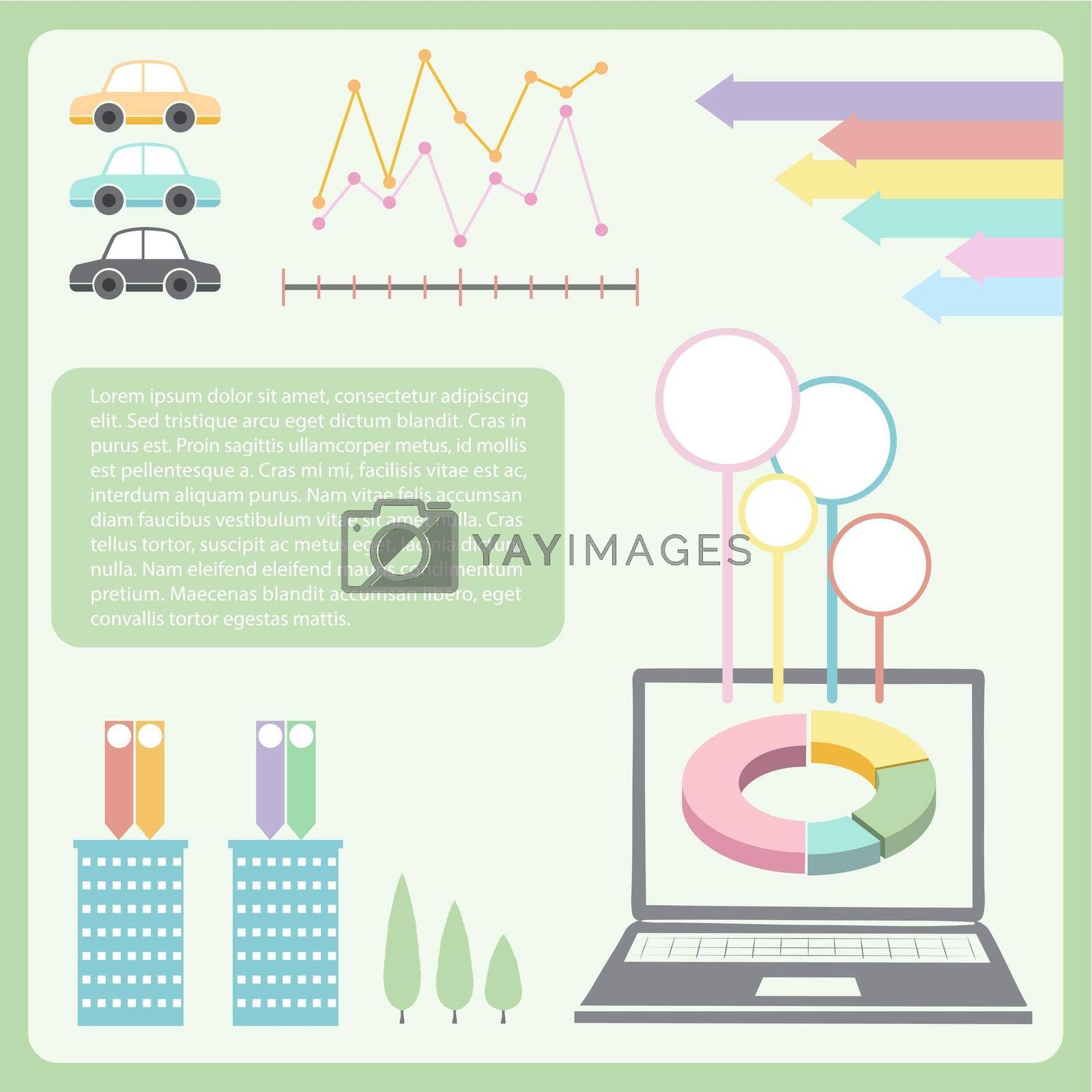 Royalty free image of An infographics showing the technology by iimages