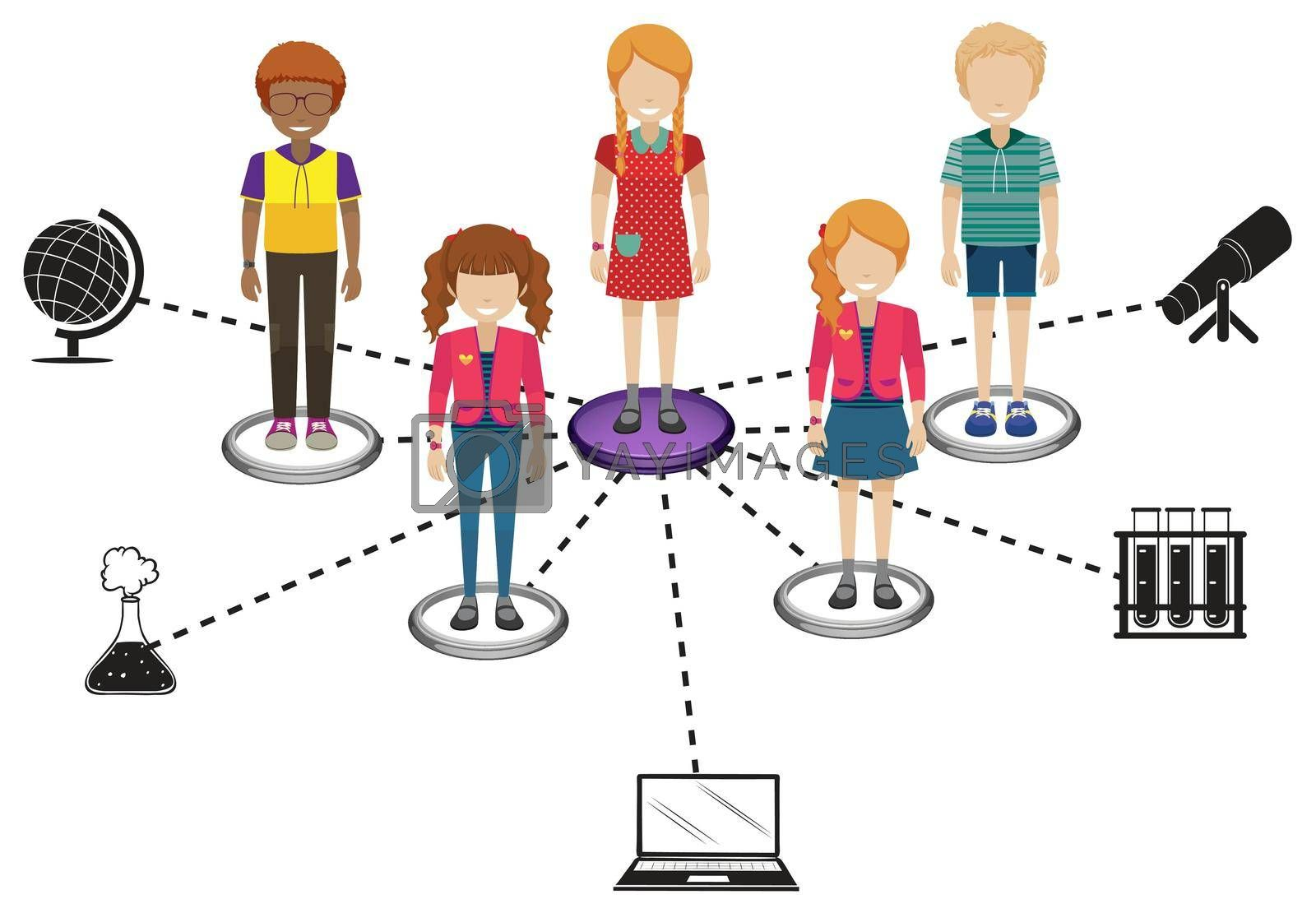 Royalty free image of Connections of people by iimages