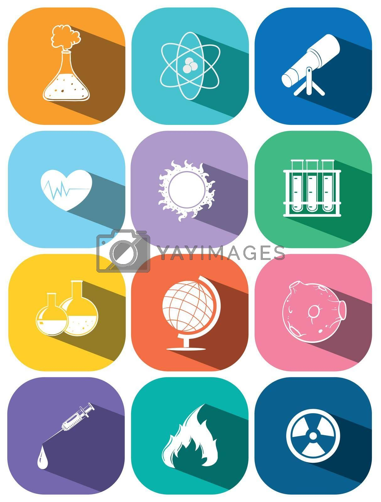 Royalty free image of Icons for technology and science by iimages