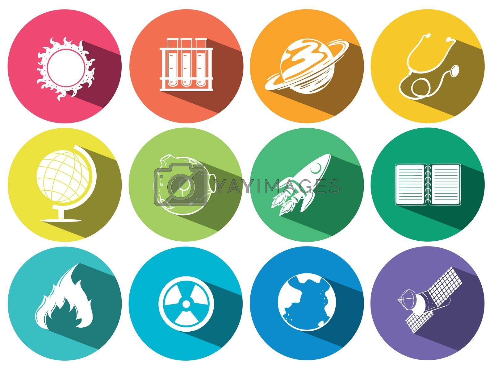 Royalty free image of Science and technology icons by iimages