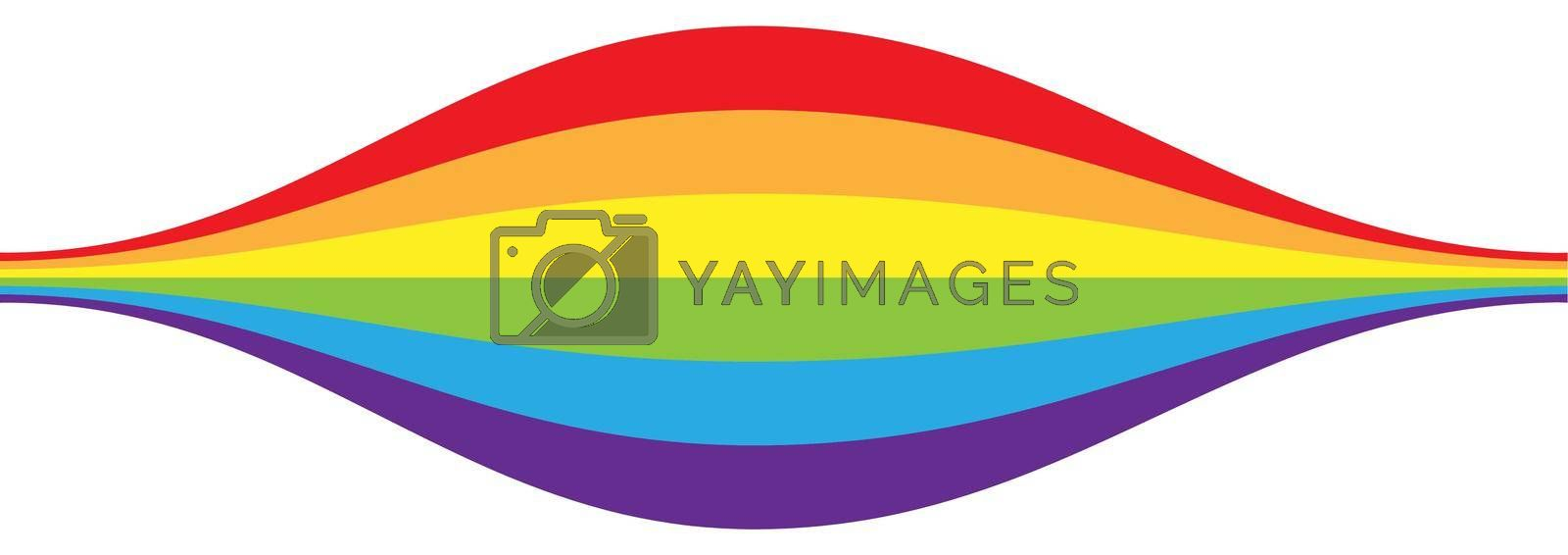 A bloated wave of LGBT flag colors for posters, banners, and creative design. Simple Style