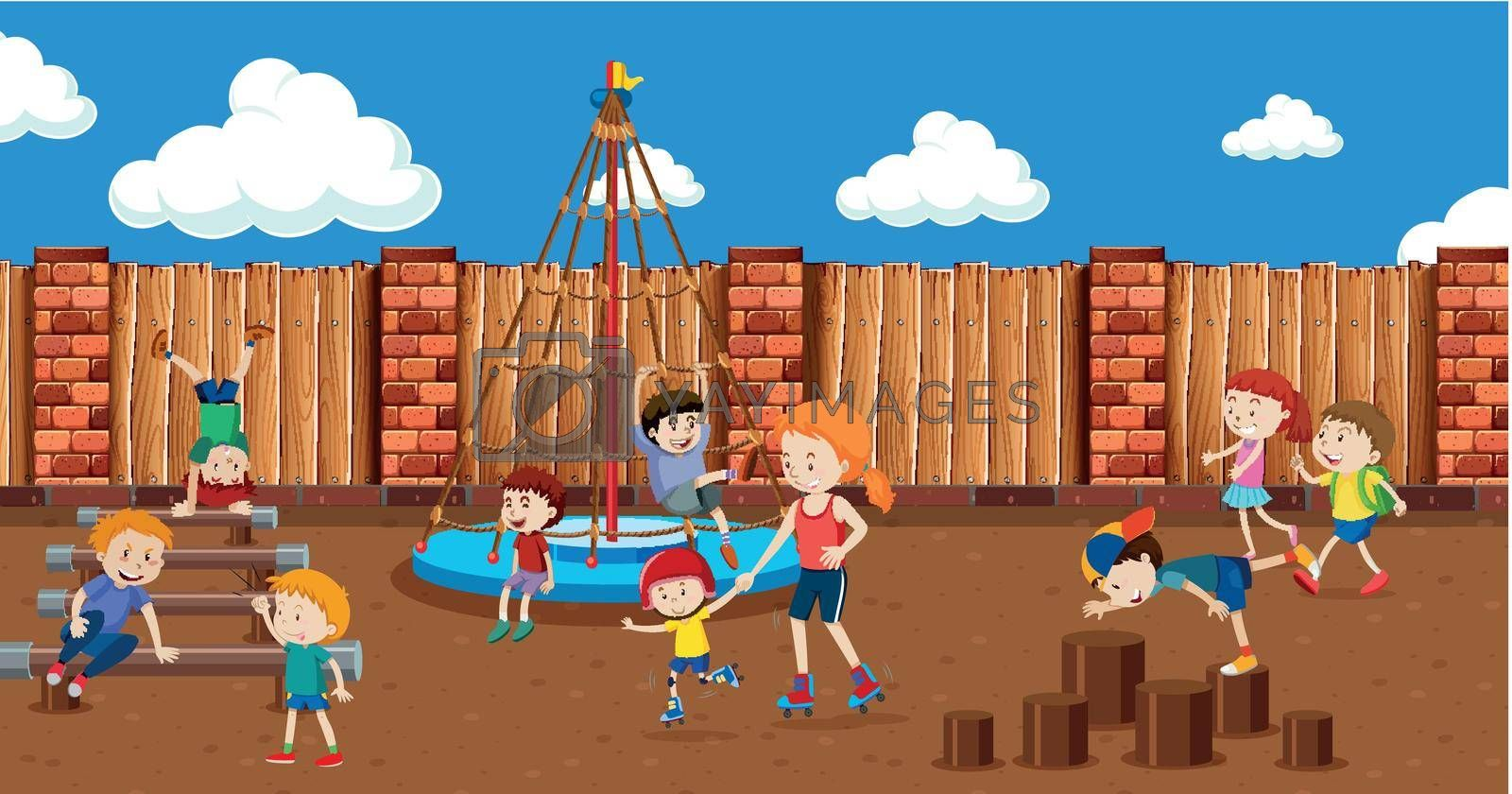 Royalty free image of People at the playground by iimages