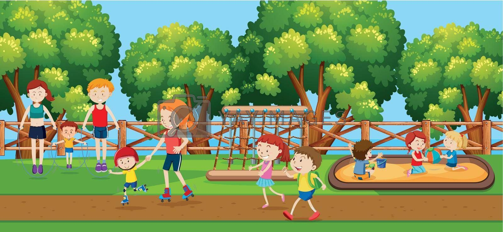 Royalty free image of People at the park by iimages