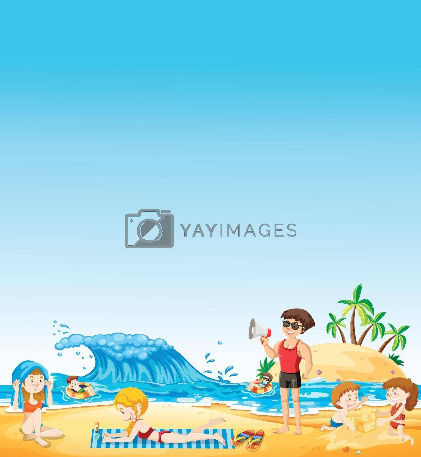 Royalty free image of People at the beach by iimages