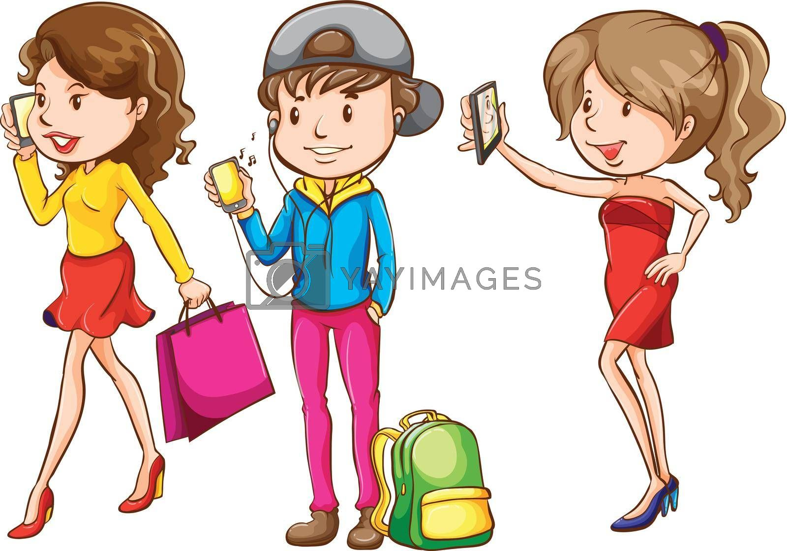 Royalty free image of People with their cellphone by iimages