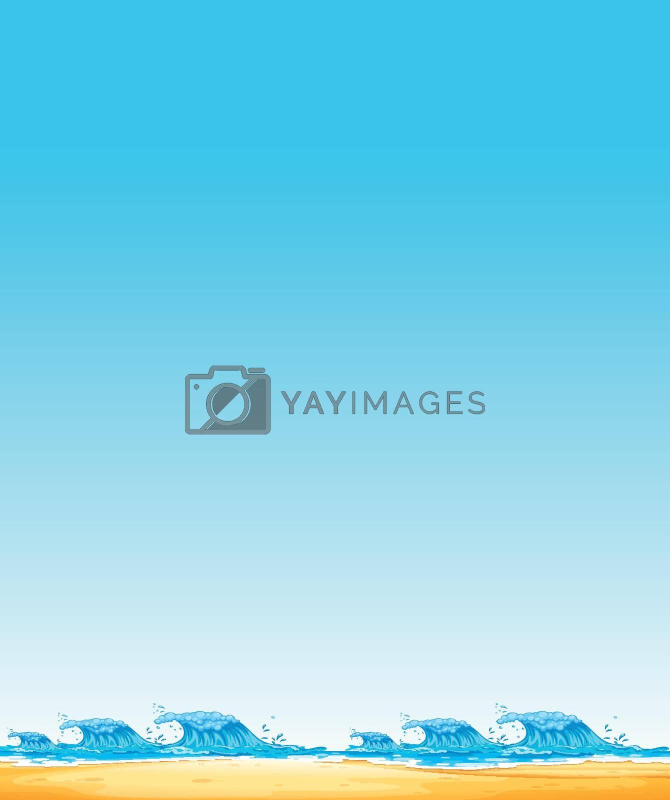 A Beautiful Seascape Border  illustration