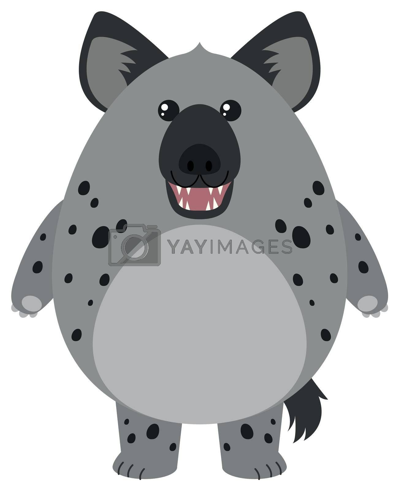 Hyena with round body illustration