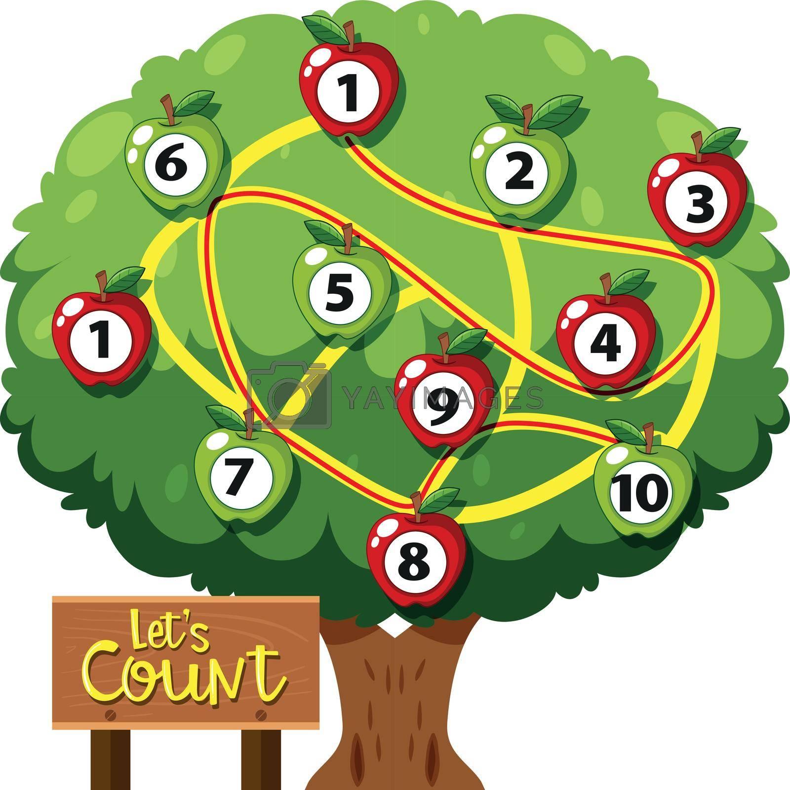 Math count number game illustration