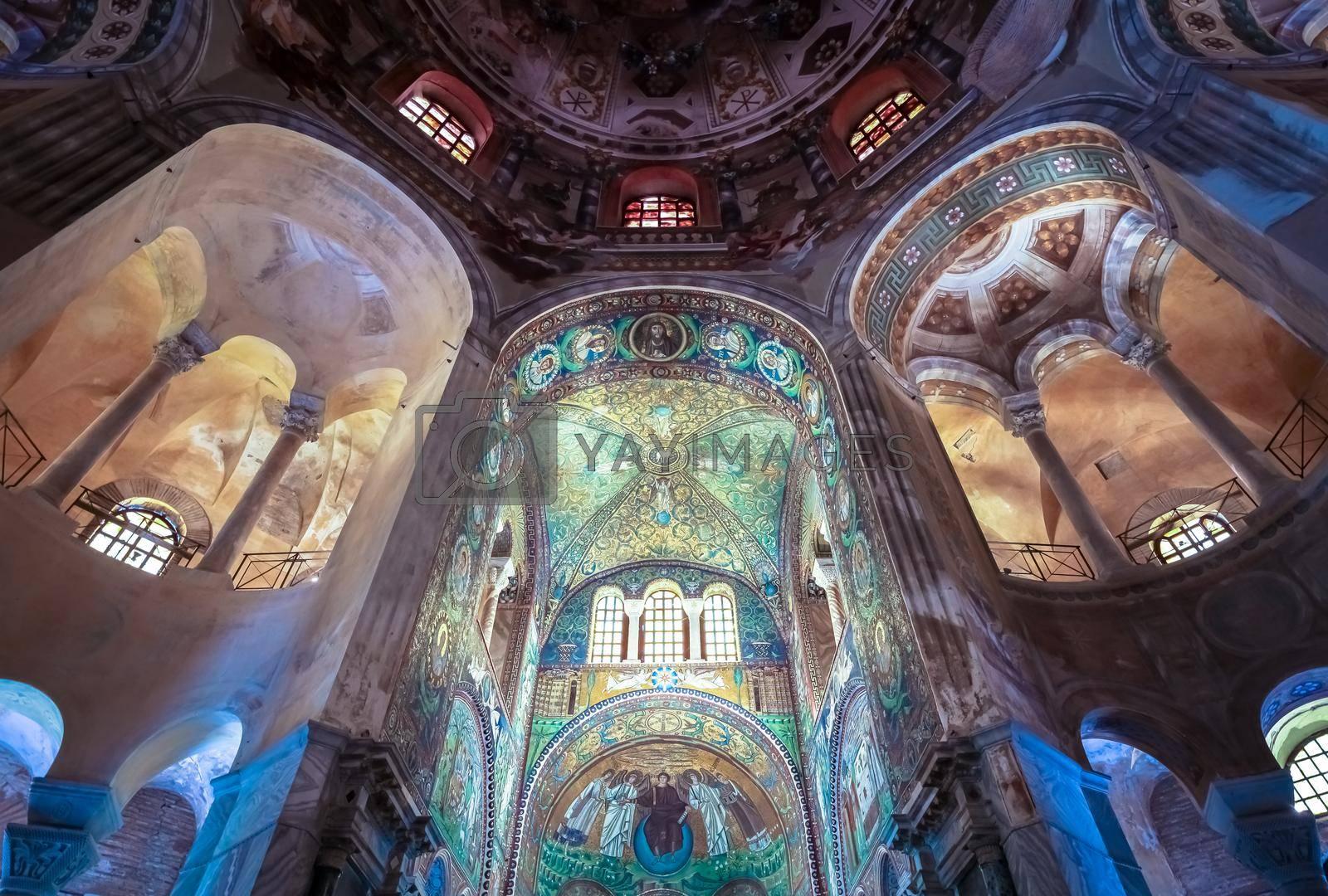 Royalty free image of Historic byzantine mosaic in Saint Vitale Basilica, Ravenna, Italy by Perseomedusa