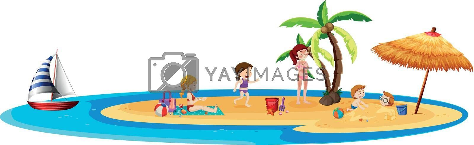 Royalty free image of People on the island by iimages