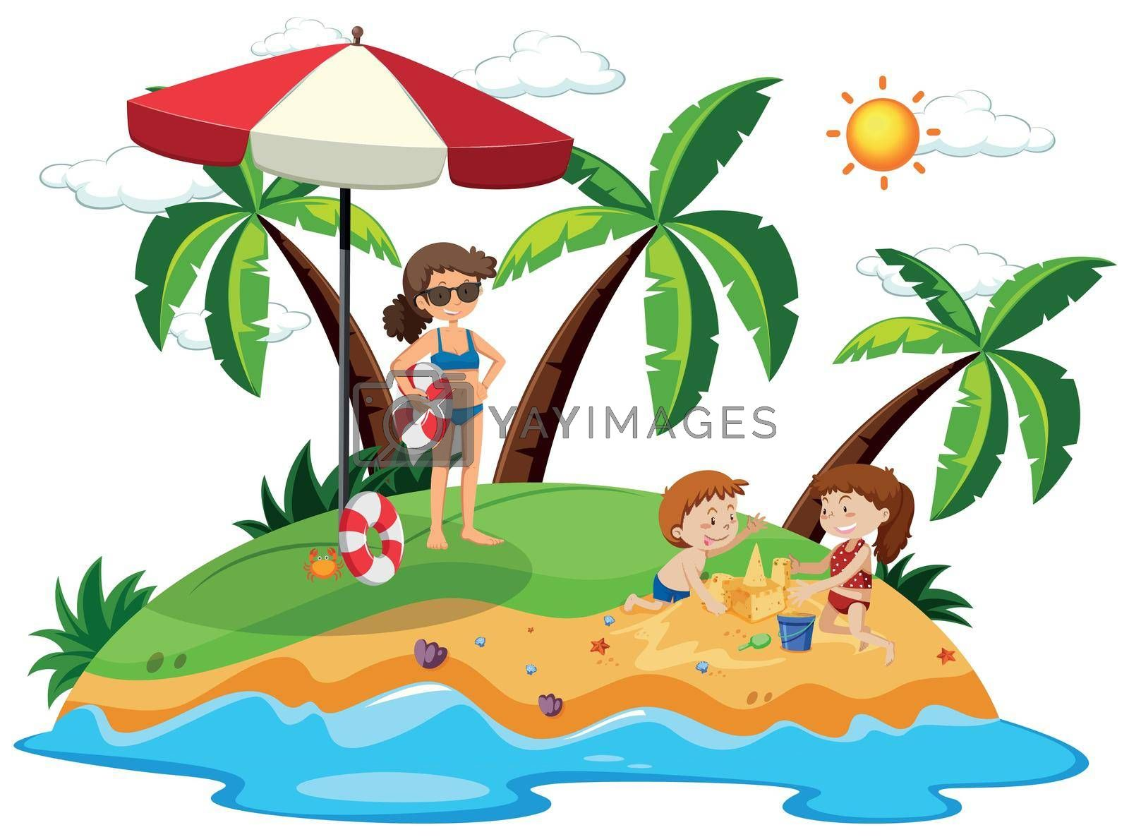 Royalty free image of People on an island by iimages