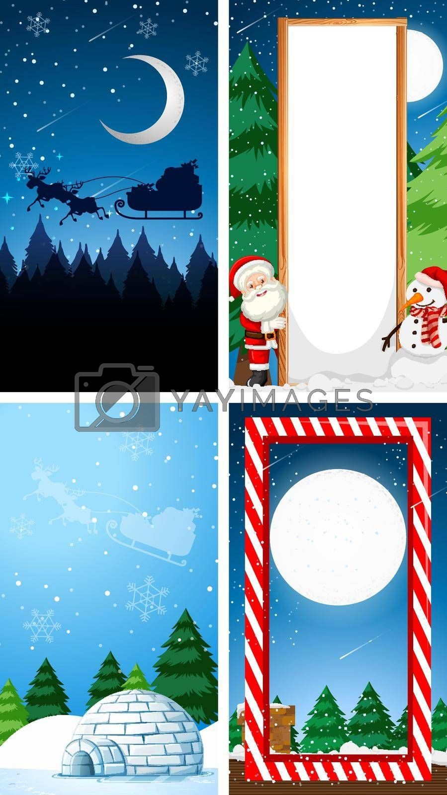 Background templates with christmas theme illustration