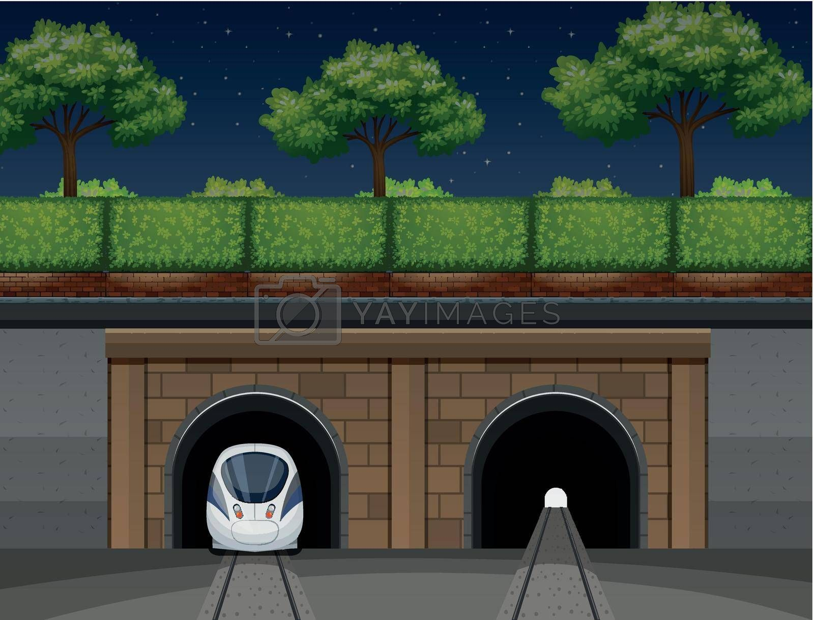 Royalty free image of An underground train transportation by iimages
