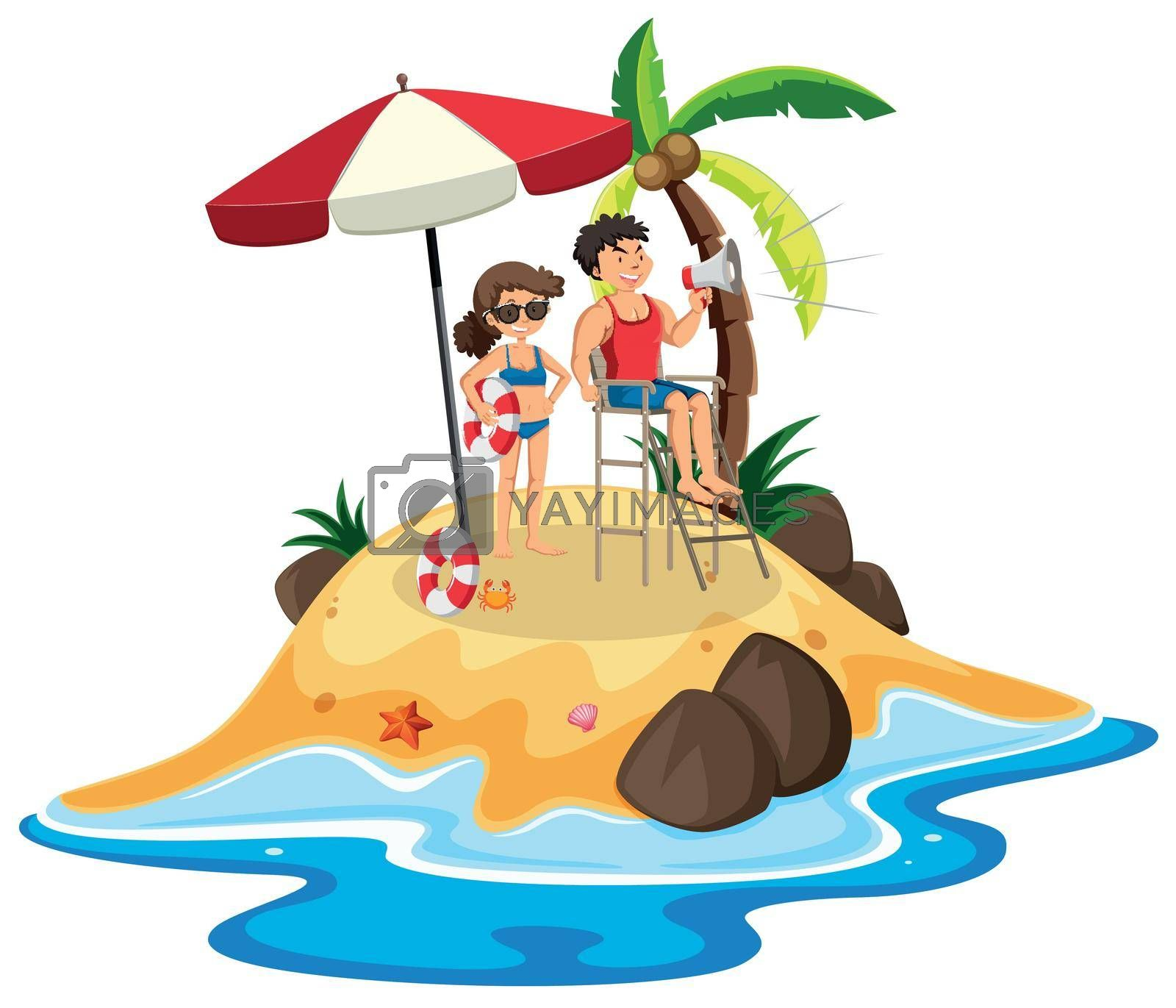 Royalty free image of People at the island by iimages