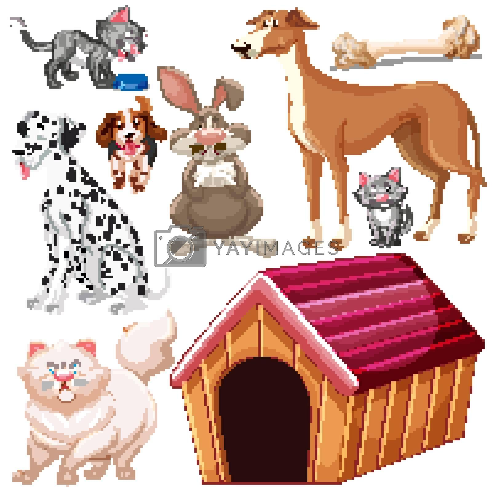 Royalty free image of Set of isolated different pets by iimages