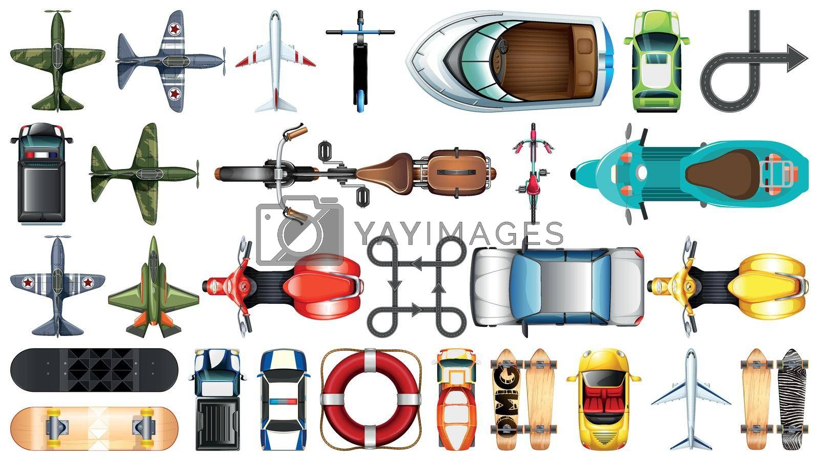 Royalty free image of Set of aerial transportation by iimages