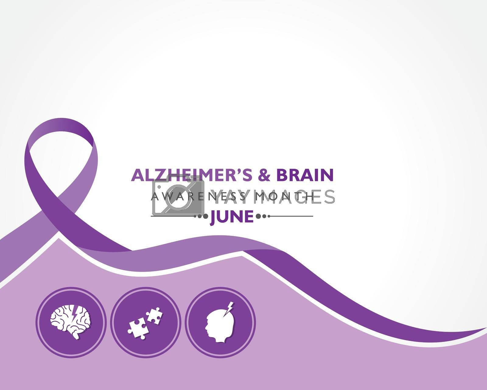 Royalty free image of Vector Illustration of Alzheimer's and Brain Awareness Month observed in June. by graphicsdunia4you
