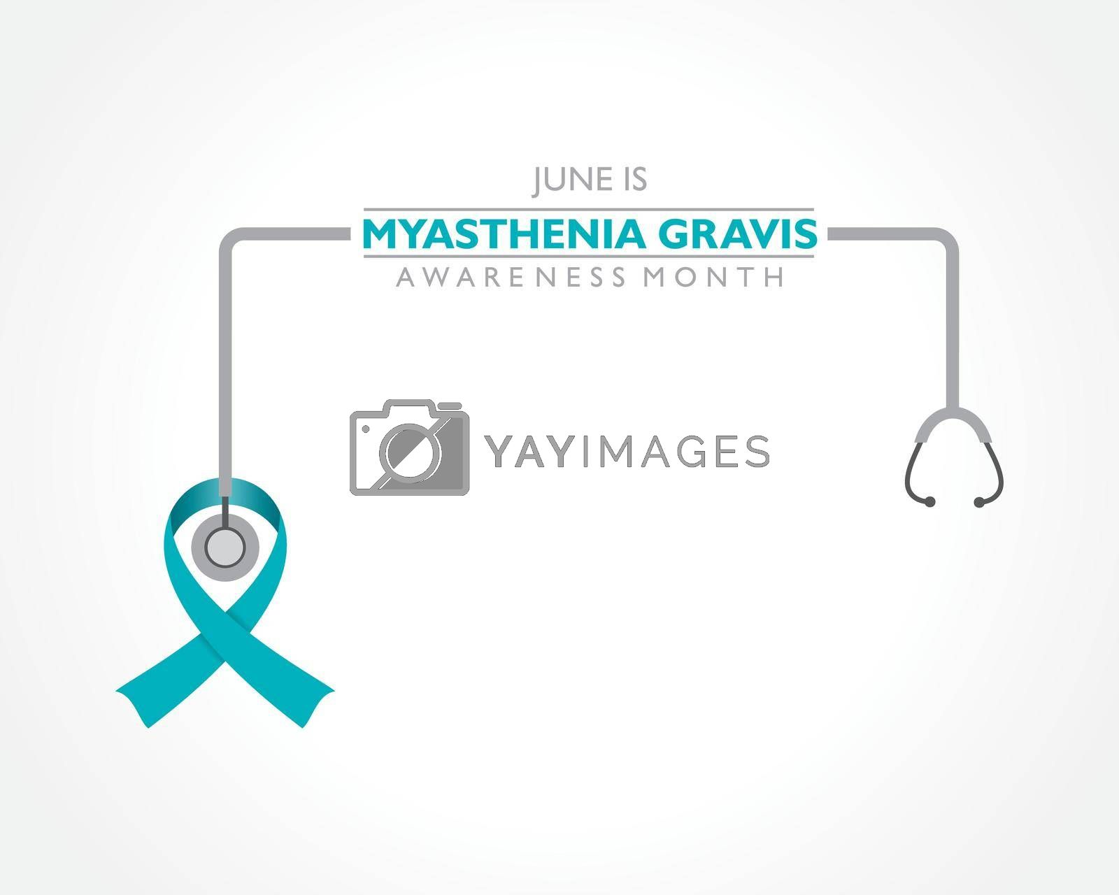 Royalty free image of Vector illustration of Myasthenia Gravis Awareness Month observed in June. by graphicsdunia4you