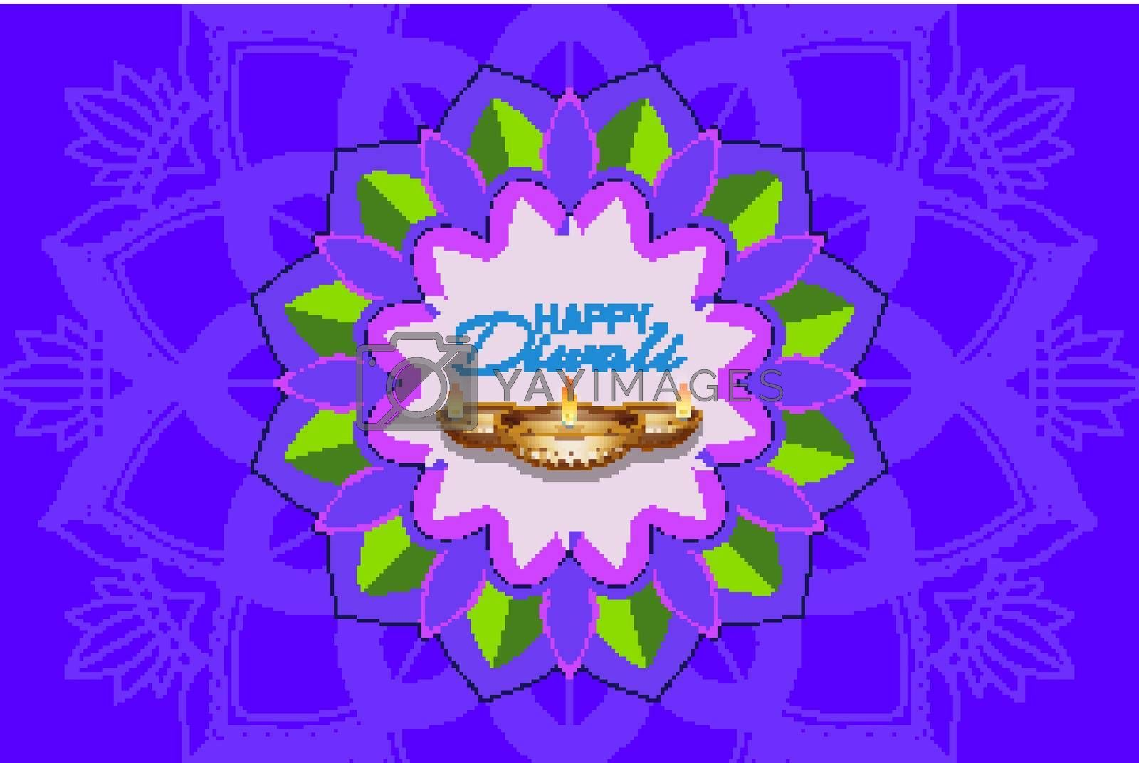 Background pattern happy Diwali festival illustration