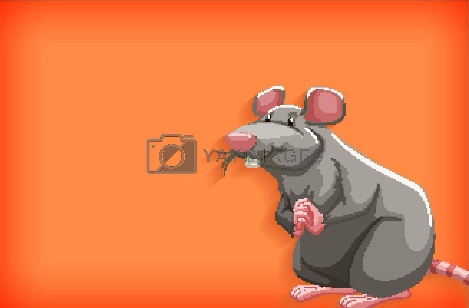 Background template with plain color and gray mouse illustration
