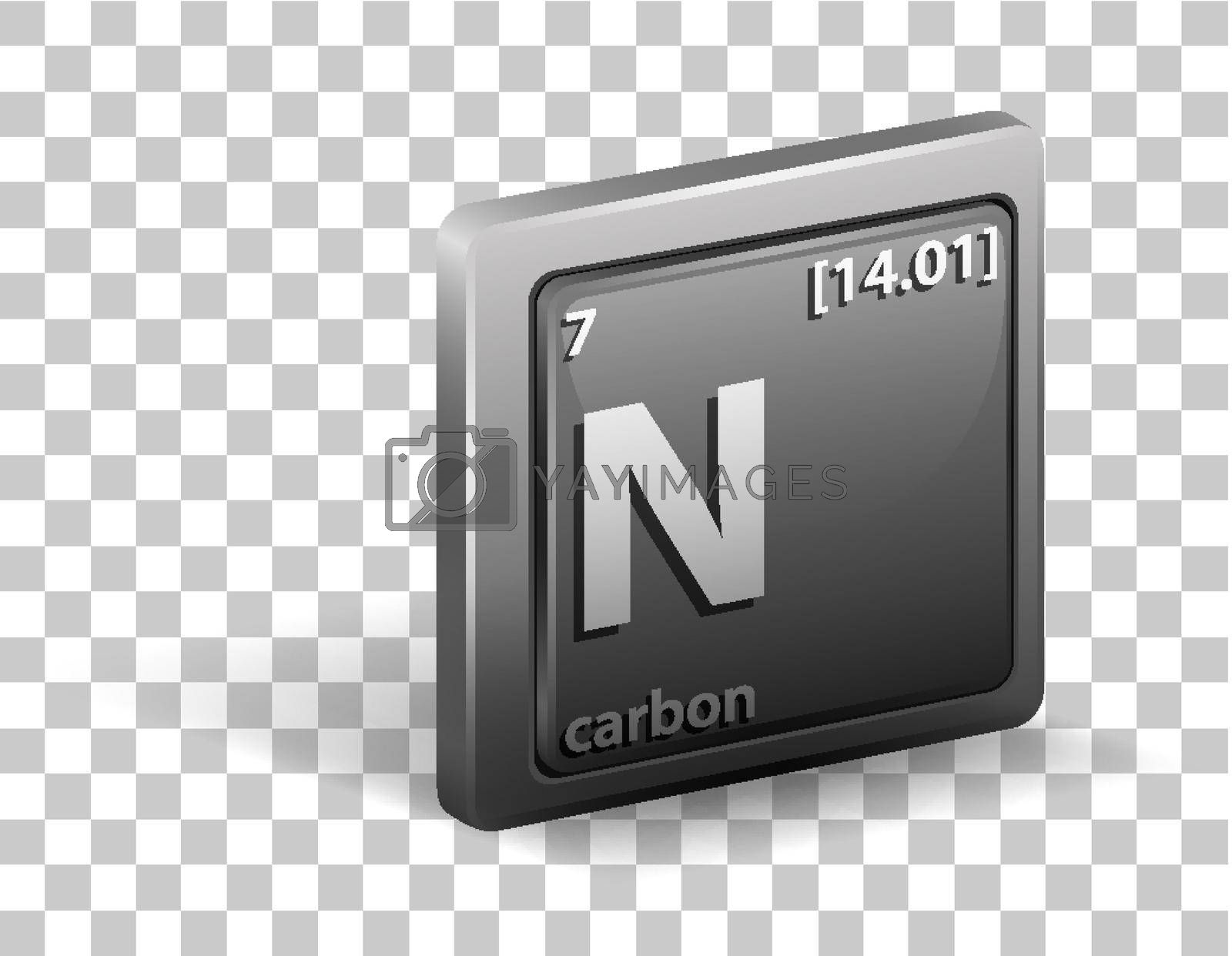 Royalty free image of Carbon chemical element. Chemical symbol with atomic number and atomic mass. by iimages