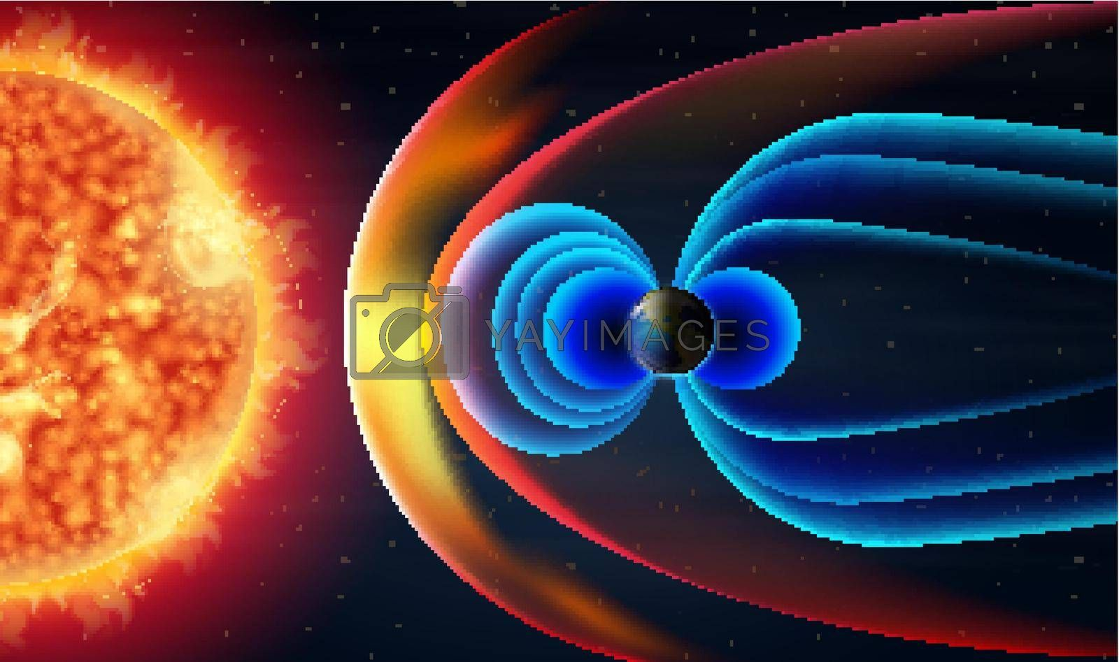 Royalty free image of Diagram showing hotwave from the sun by iimages