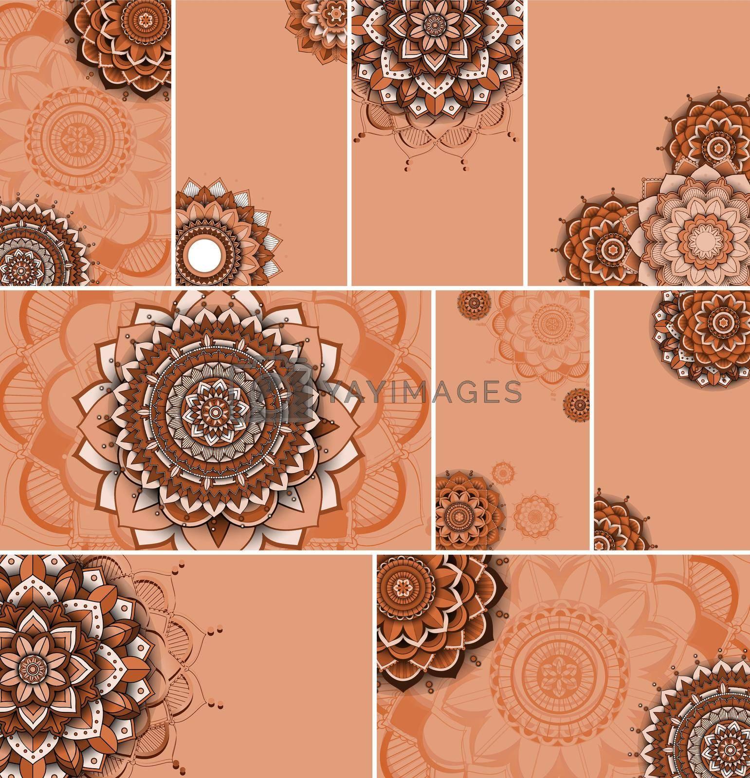 Beautiful mandala design background illustration