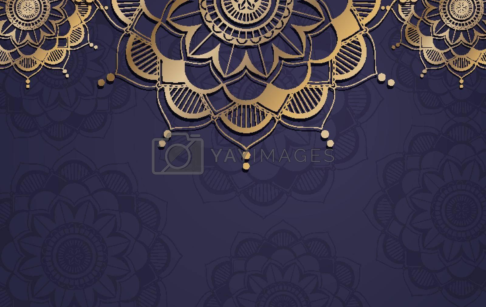 Background template with mandala pattern design illustration