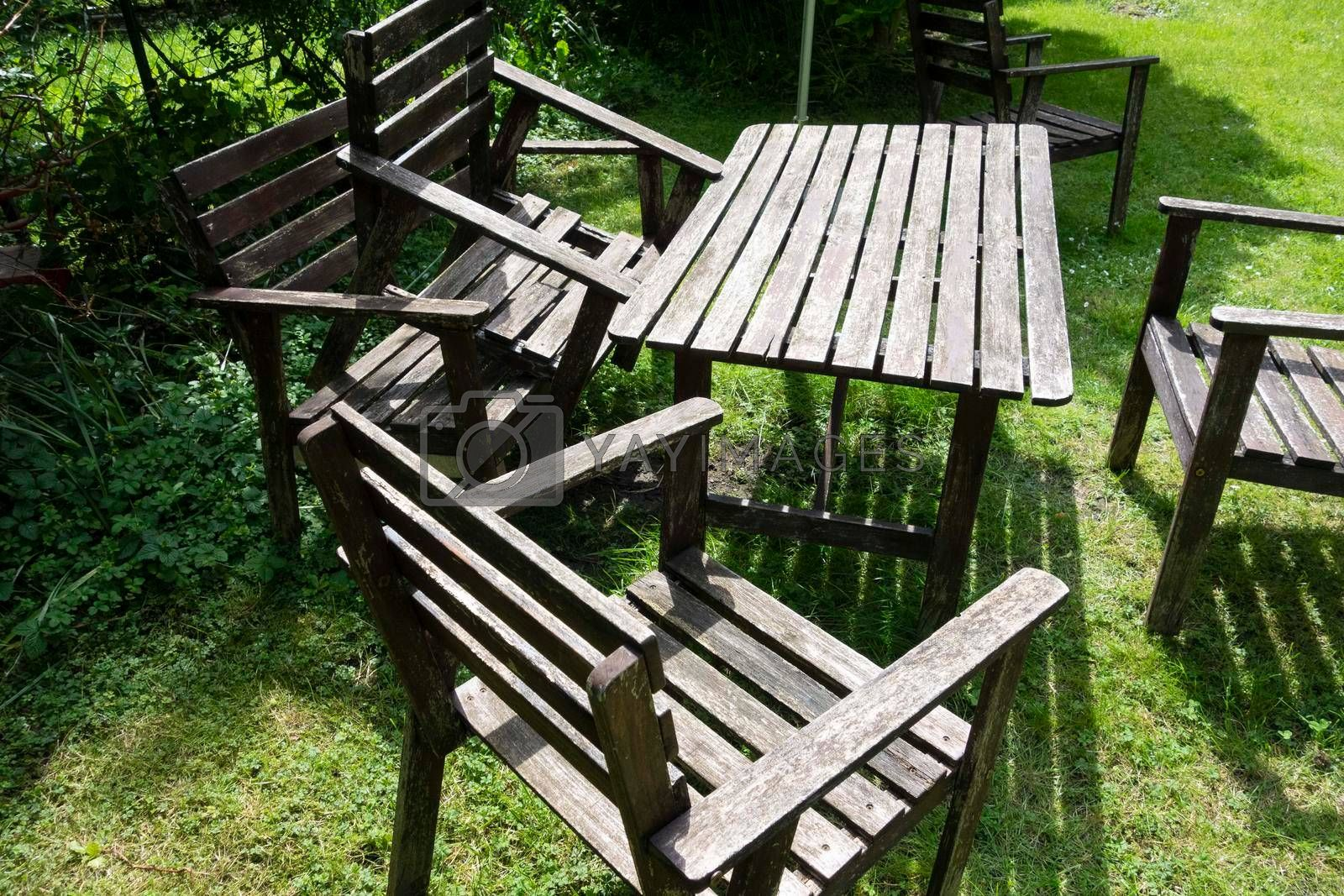 chairs or armchairs for sitting and relaxing in the garden