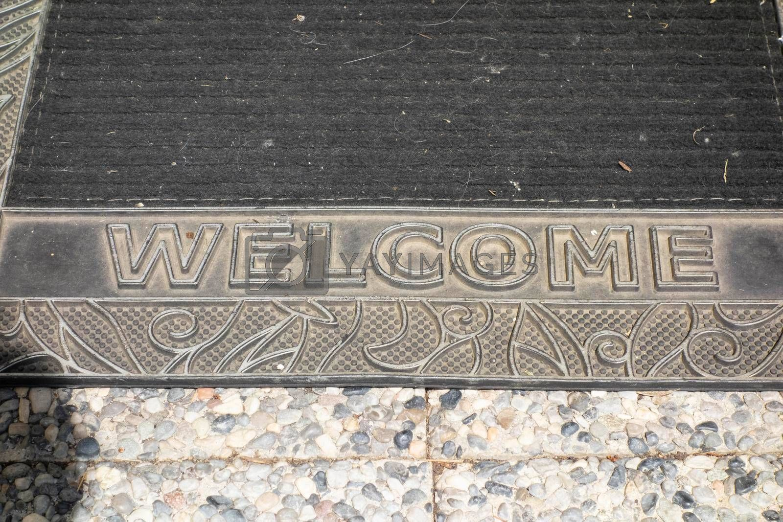 welcome sign at the entrance for greeting and welcoming visitors