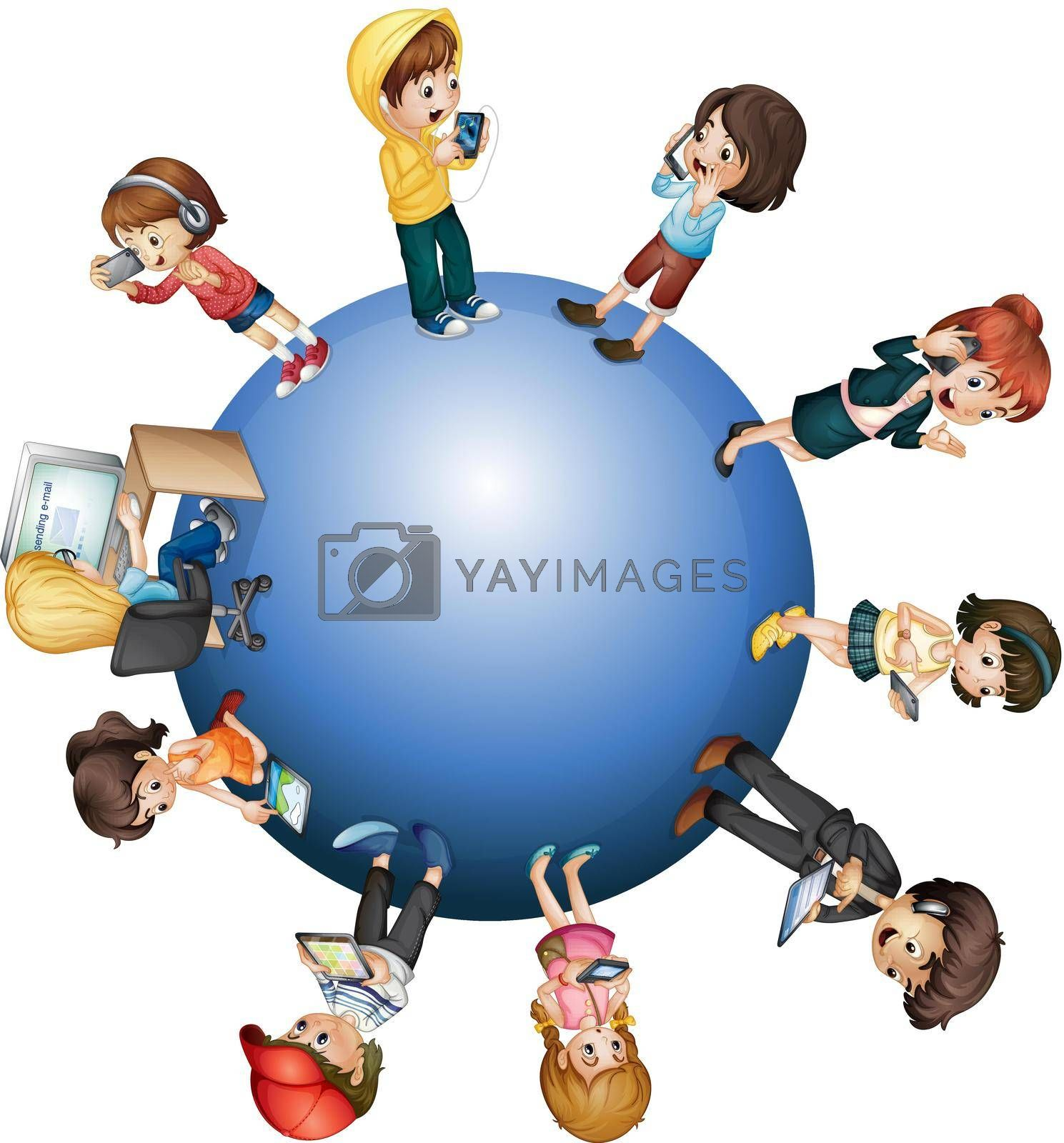 Royalty free image of Global technology by iimages