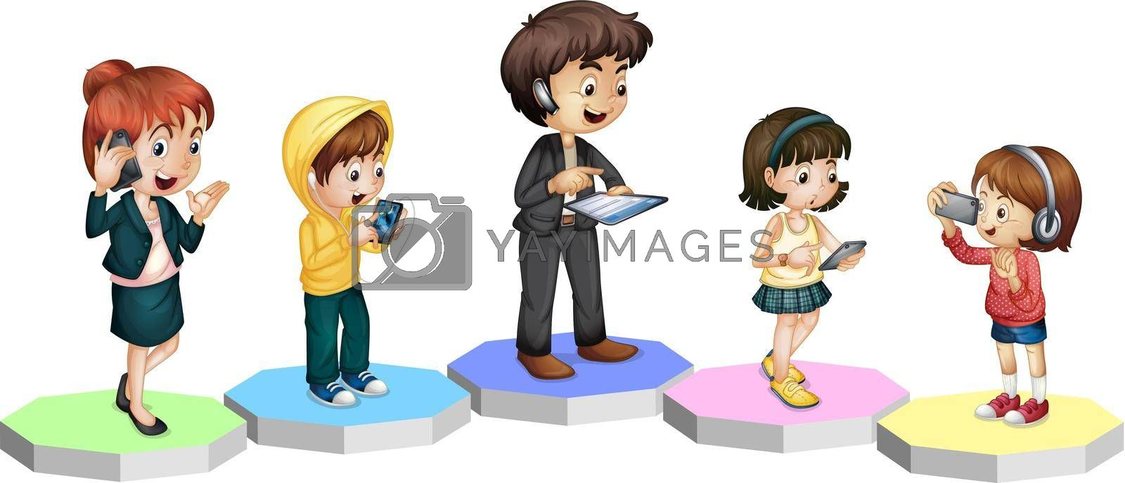 Royalty free image of Technology Family by iimages