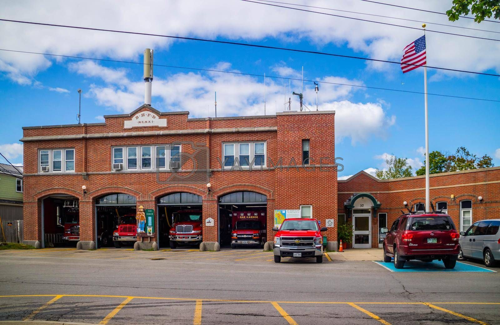 Royalty free image of Bar Harbor, ME, USA - August 19, 2018: The BHFD fire department by cherialguire