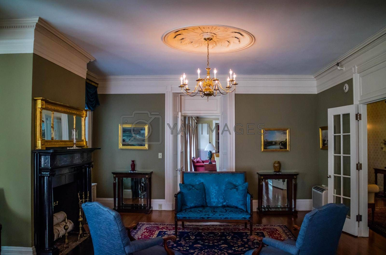 Royalty free image of Augusta, ME, USA - August 8, 2018: The living area of Blaine's House by cherialguire