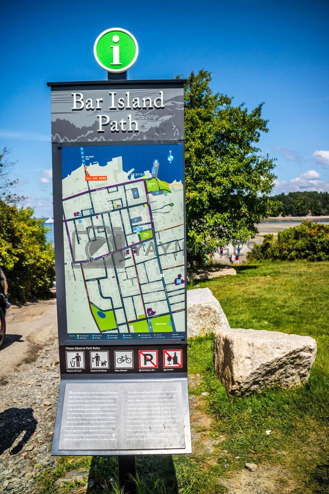Royalty free image of Bar Harbor, ME, USA - August 19, 2018: The Bar Island Path Trialhead by cherialguire