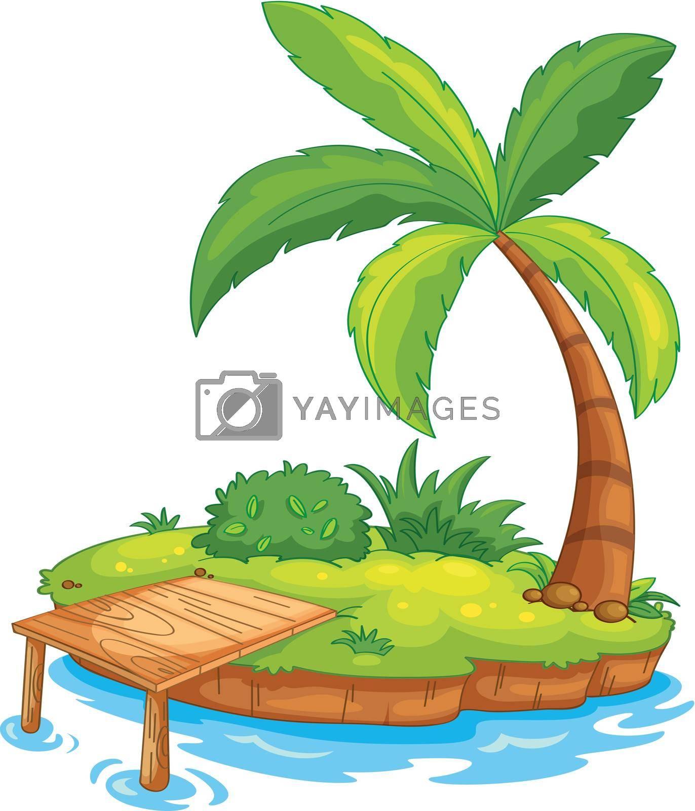 Illustration of a tiny island