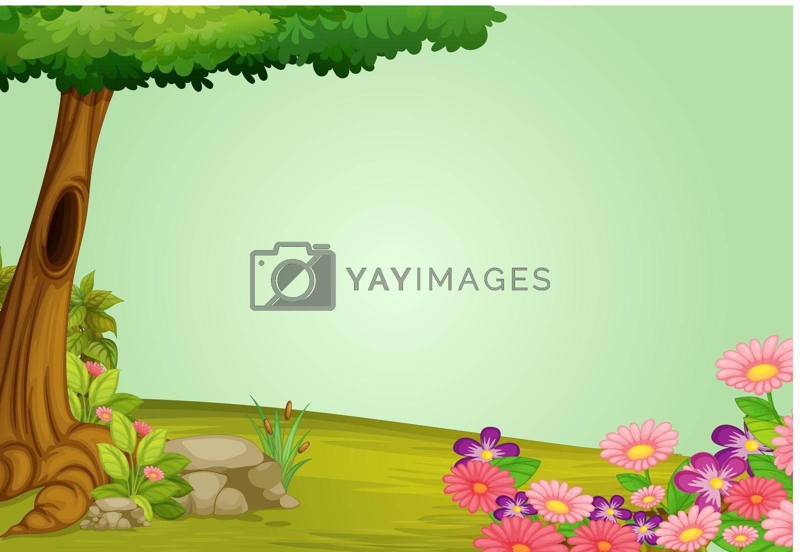 illustration of beautiful nature and greenery