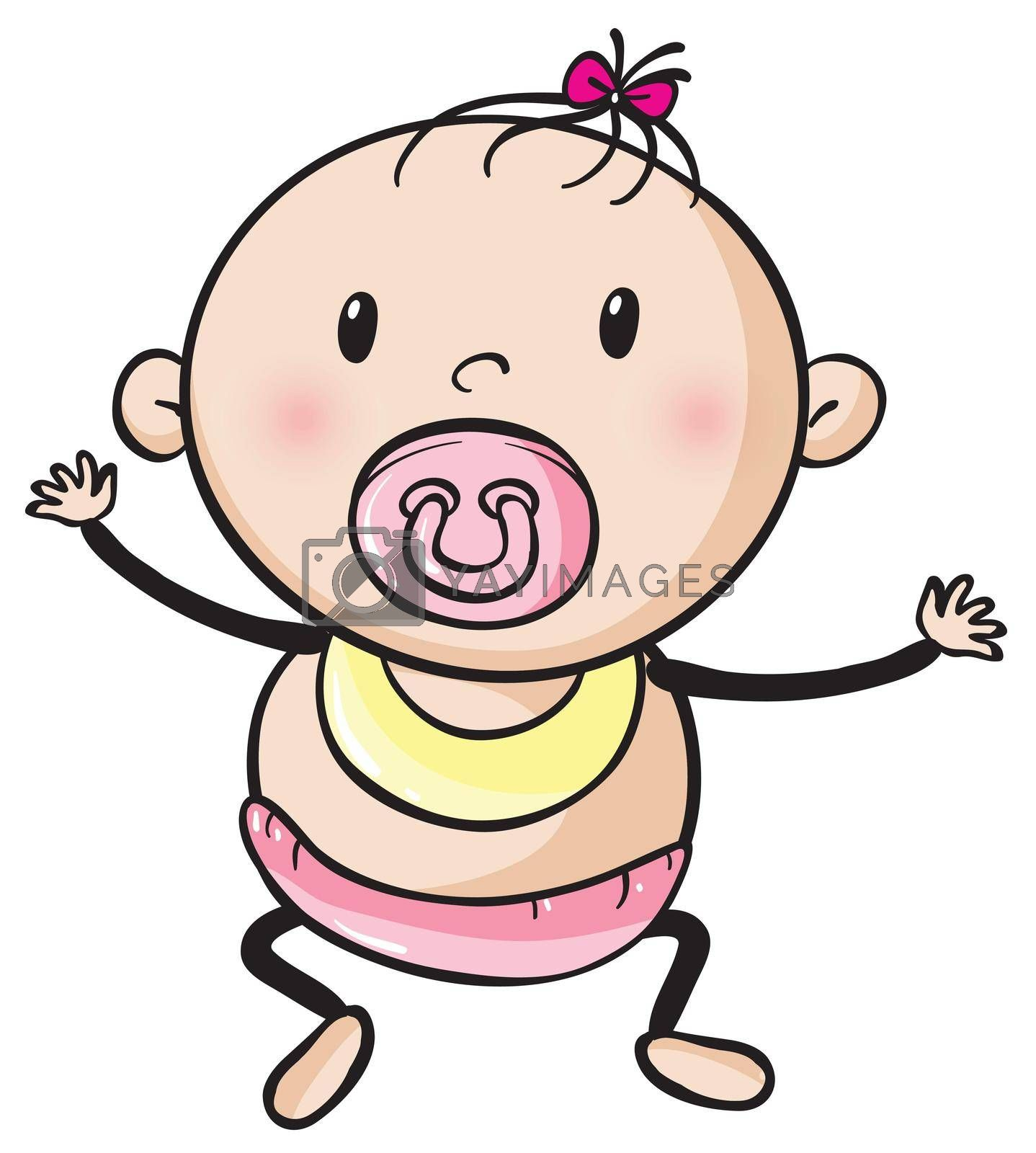 illustration of a baby on a white background