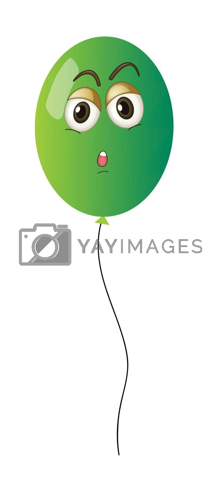 illustration of a balloon on a white background