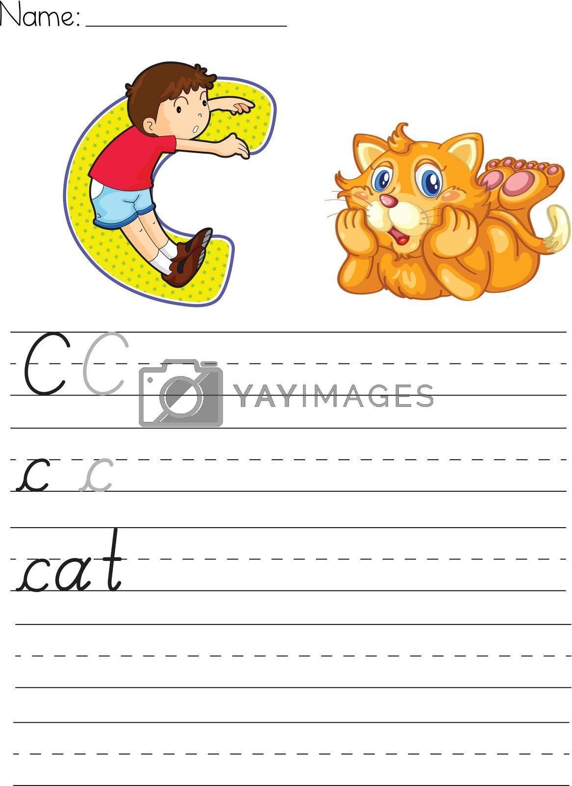 Alphabet worksheet of the letter C